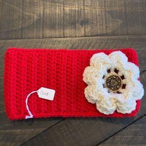 Homemade crochet Child headband flower